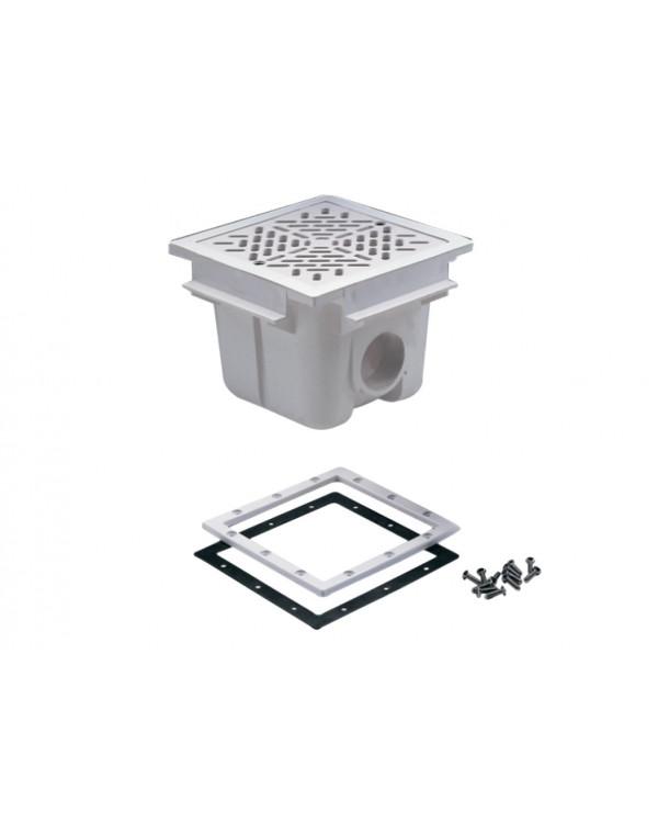 Квадратный донный слив под пленку ABS/А014L/